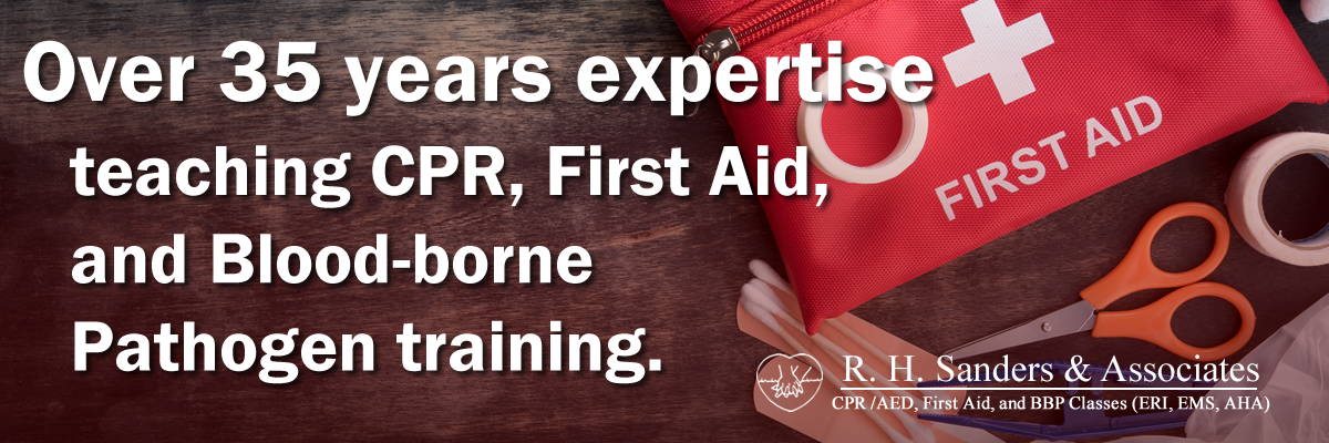 CPR AED and First Aid Training Classes by RH Sanders and Associates