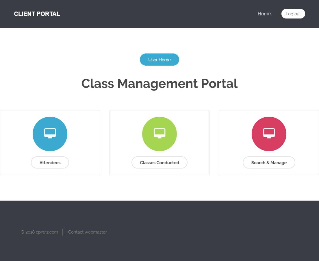 Custom Client Portal